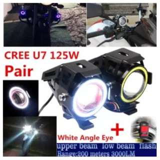 Spotlight Headlight Lampu LED Motor Bike Fog Lamp Ring Eye Spotlight Motorcycle