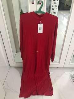 Zara red maxi dress