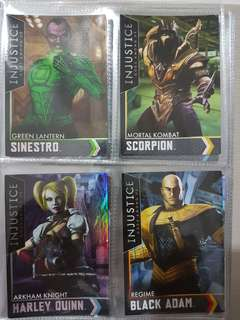 INJUSTICE GOLD CARDS