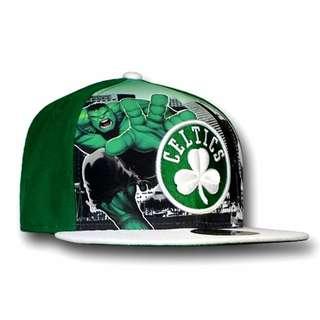 BLC AUTH Hulk Boston Celtics 59Fifty Flat Billed Cap New Era 36$