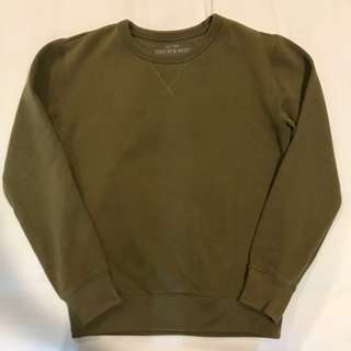 SPAO Army Green/Olive Basic Sweater