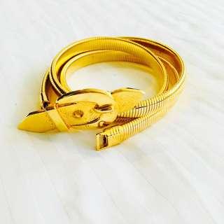 Gold stretchable belt