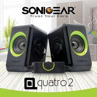 🚚 SonicGear 2.0 Speaker Quatro 2 (Green)