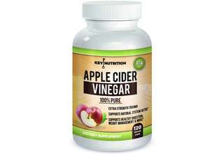 [IN-STOCK] Key Nutrition Apple Cider Vinegar 1500mg, 100% Organic, Pure & Raw – Healthy Blood Sugar, Weight Loss, Digestion & Detox Support - 60 day Supply.