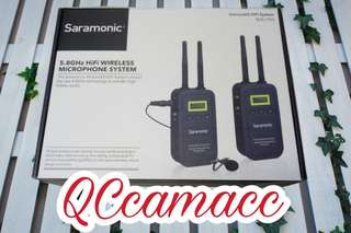 Saramonic Vmiclink5 5.8GHz HiFi microphone wireless system RX5 TX5