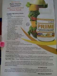 PRIME multi vitamin supplement