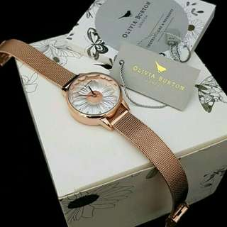 100%Original Olivia Burton Daisy 3D 36mm Rosegold New