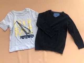 Preloved Baby Gap and Zara tops
