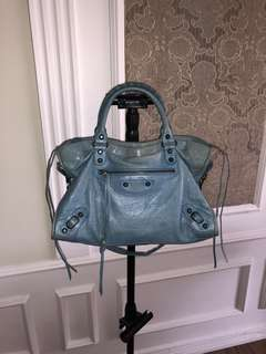 💯 auth Balenciaga City blue