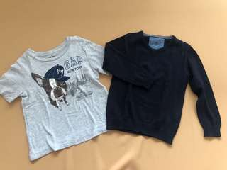 Preloved Baby Gap and Zara tops