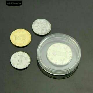 Clear coin holder