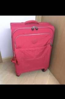 <蝕讓>全新正品 Kipling Parker Medium Rolling Luggage 桃紅色 旅行喼 行李箱