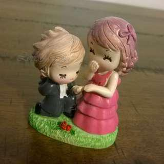 Wedding Couple Cake Topper Engagement Propose Desktop Figure