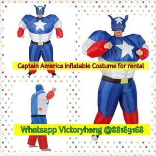 Captain America Inflatable Costume for rental