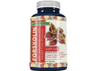 [IN-STOCK] 100% Pure Forskolin Extract 60 Capsules (Best Coleus Forskohlii on the Market) - Highest Grade Weight Loss Supplement for Women & Men - Standardized At 20% - Guaranteed By California Products