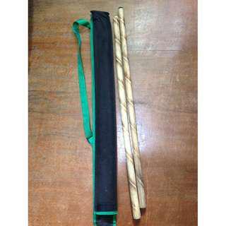 Arnis Sticks with case