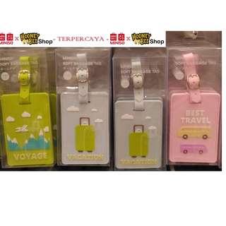Japan Quality Miniso - Tag Koper Soft Baggage Tag Jelly Silikon