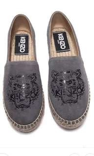 Kenzo tiger head double sole suede espadrilles