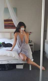 Slinky Grey Dress