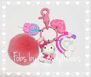 Sweet Hello Kitty Fob with Charms
