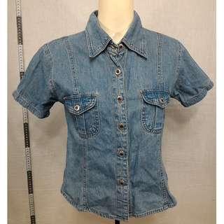 🚚 11118173-NEW PAOCI short-sleeved denim shirt短袖丹寧襯衫