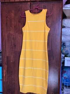 Cotton On Leanna Midi Dress - Yellow Stripes