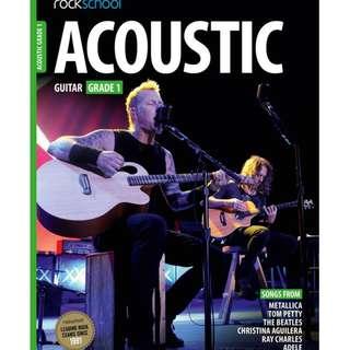 *SALE* BRAND NEW Rockschool Acoustic Guitar Book (Grade 1)
