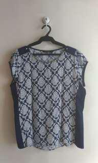 Vivant Blouse with Attached Necklace (w/defect)
