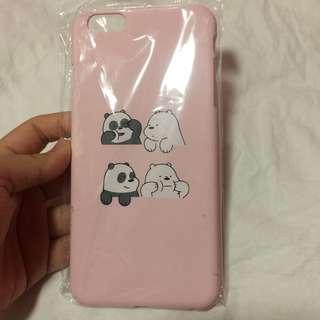 🌻BRANDNEW🌻 Iphone 6+ Iphone 6s+ Iphone 6 plus We Bare Bears Panda and Ice Bear Matte Hard Case