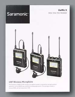 Saramonic Mic wireless UwMic9 RX9+TX9+TX9