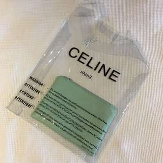 Celine PVC Plastic Bag with a handbag in mint green