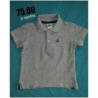 Gray polo shirt