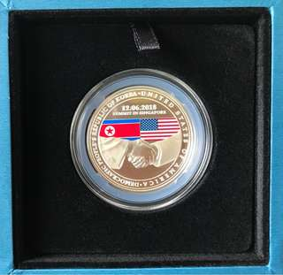 United States - North Korea Summit 2018 1 oz 999 Fine Silver Proof Medallion