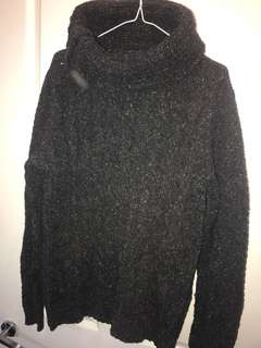 Guess Roll Neck Cable Sweater