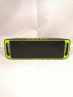 🚚 [In Stock] Wireless Bluetooth Black/Green Speaker