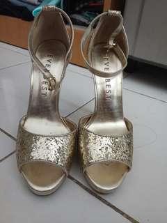 Preloved High Heels Everbest Gold original 100 %