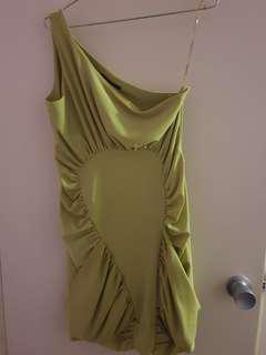 Green pascucci dress sz 10