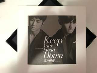 東方神起 KEEP YOUR HEAD DOWN Repackage 專輯卡片套
