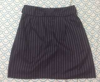 Navy Blue Stripes Skirt