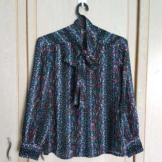 Vintage Long Sleeve Printed Shirt