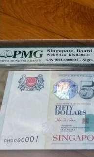 Singapore $50 signed HTT