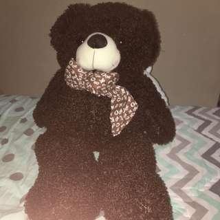 Teddy Bear warna coklat gelap
