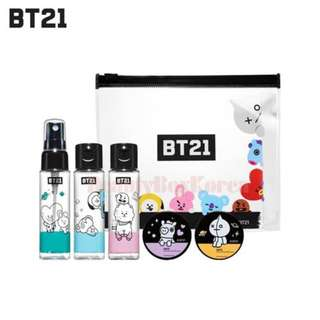 BT21 BTS cosmetic container kit pouch travel