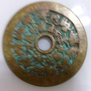 十二生肖八卦花钱品相包浆一流直径46mm厚3mm