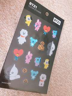 【 BT21 】 CLEAR STICKER BTS