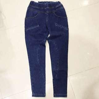 🇰🇷韓國購入 鬆緊腰牛仔褲 S