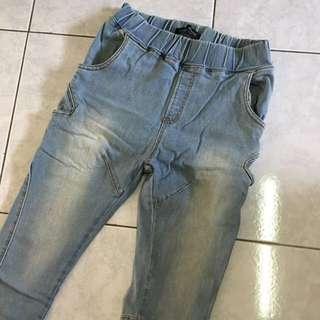 🇰🇷韓國購入 女款牛仔褲 鬆緊腰