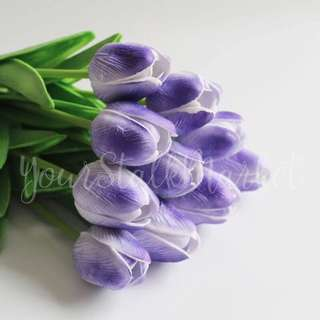 💐YourStalkMarket - Artificial Purple Tulips