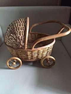 Vintage Baby pram basket