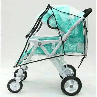 *FREE DELIVERY to WM only / Ready stock* Stroller rain coat with front zip each as shown in design/color. Free delivery is applied for this item.